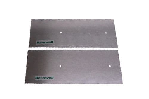 Barnwell 1.5mm Notched Adhesive Trowel Blade x 2